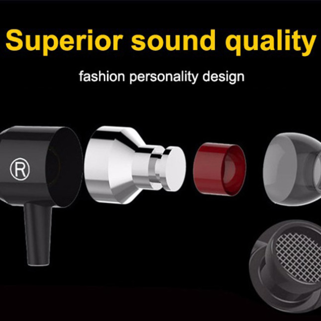 Original PTM Earphone Super Bass Headset With Strong Resistance Wire