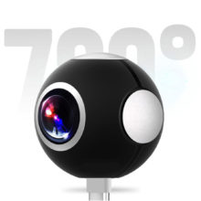 Podofo Mini HD Panoramic 360 Camera Wide Dual Angle Fish Eye Lens VR Video Camera VR Smartphone Type-C USB Sport Action Cam OTG