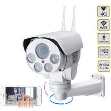 4G 3G SIM Card Camera Wifi Outdoor PTZ HD 1080P Bullet Camera Wireless IR 50M 5X 10X Zoom Auto Focus CCTV Wifi IP Camera Audio