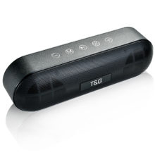 TG LED Bluetooth Outdoor Speaker Metal Portable Super Bass Wireless Loudspeaker 3D Stereo Music Surround With Mic FM TFCard Aux
