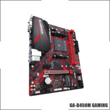 Gigabyte GA B450M GAMING (rev. 1.0) AMD B450 /2-DDR4 DIMM /M.2 /USB3.1 /Micro-ATX /New / Max-32G  Double Channel AM4 Motherboard