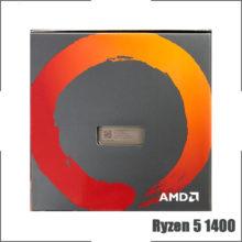 AMD Ryzen 5 1400 R5 1400 3.2 GHz Quad-Core Eight-Thread CPU Processor L2=2M L3=8M 65W YD1400BBM4KAE Socket AM4 New and with fan