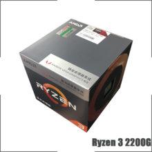 AMD Ryzen 3 2200G R3 2200G 3.5 GHz Quad-Core Quad-Thread CPU Processor L2=2M L3=4M 65W YD2200C5M4MFB Socket AM4